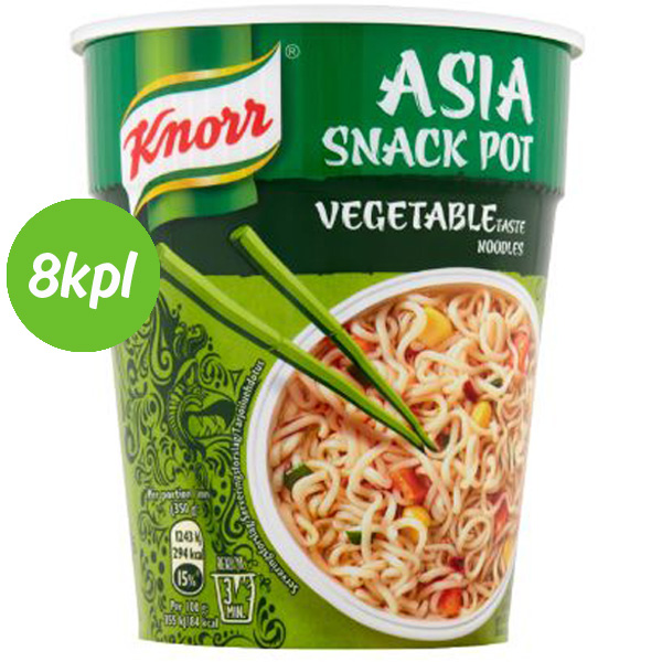 8kpl Knorr Noodles 65g Vegetable Cup